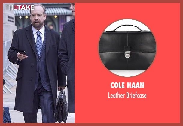 Cole Haan black briefcase from Billions seen with Chuck Rhoades (Paul Giamatti)