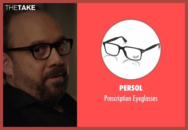 Persol black eyeglasses from Billions seen with Chuck Rhoades (Paul Giamatti)