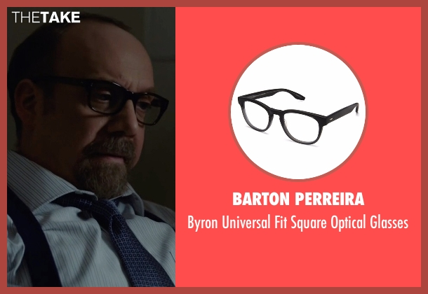 Barton Perreira black glasses from Billions seen with Chuck Rhoades (Paul Giamatti)