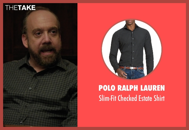 Polo Ralph Lauren black shirt from Billions seen with Chuck Rhoades (Paul Giamatti)