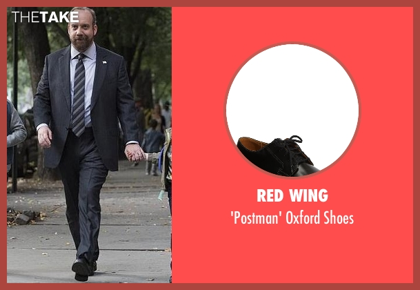 Red Wing black shoes from Billions seen with Chuck Rhoades (Paul Giamatti)