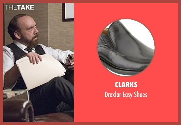 Clarks black shoes from Billions seen with Chuck Rhoades (Paul Giamatti)