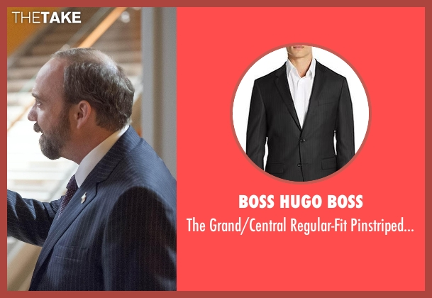 Boss Hugo Boss black suit from Billions seen with Chuck Rhoades (Paul Giamatti)