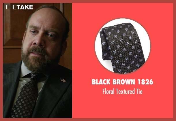 Black Brown 1826 black tie from Billions seen with Chuck Rhoades (Paul Giamatti)