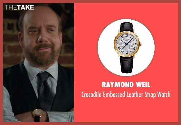 Raymond Weil black watch from Billions seen with Chuck Rhoades (Paul Giamatti)