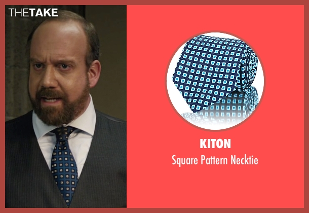 Kiton blue necktie from Billions seen with Chuck Rhoades (Paul Giamatti)