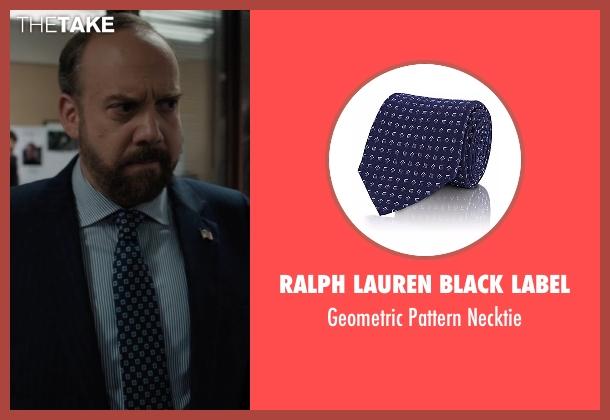 Ralph Lauren Black Label  blue necktie from Billions seen with Chuck Rhoades (Paul Giamatti)