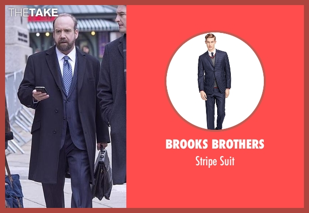 Brooks Brothers blue suit from Billions seen with Chuck Rhoades (Paul Giamatti)