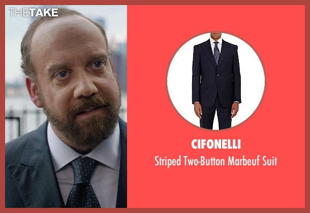 Cifonelli blue suit from Billions seen with Chuck Rhoades (Paul Giamatti)