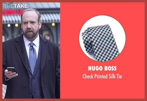 Hugo Boss blue tie from Billions seen with Chuck Rhoades (Paul Giamatti)