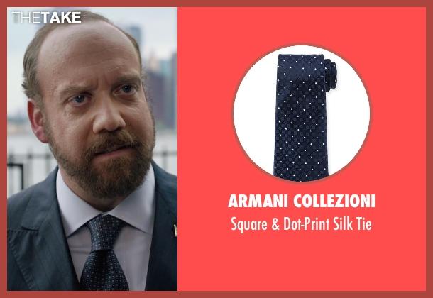 Armani Collezioni  blue tie from Billions seen with Chuck Rhoades (Paul Giamatti)