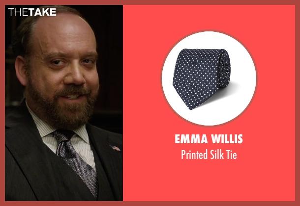 Emma Willis blue tie from Billions seen with Chuck Rhoades (Paul Giamatti)
