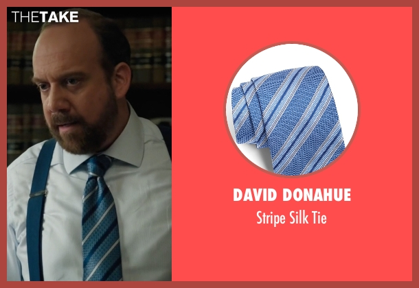 David Donahue  blue tie from Billions seen with Chuck Rhoades (Paul Giamatti)
