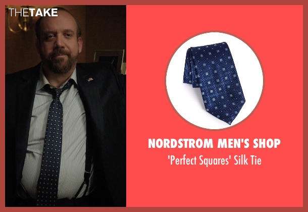 Nordstrom Men's Shop blue tie from Billions seen with Chuck Rhoades (Paul Giamatti)
