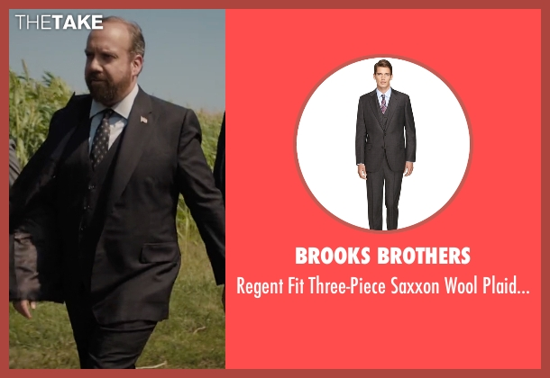 Brooks Brothers brown suit from Billions seen with Chuck Rhoades (Paul Giamatti)