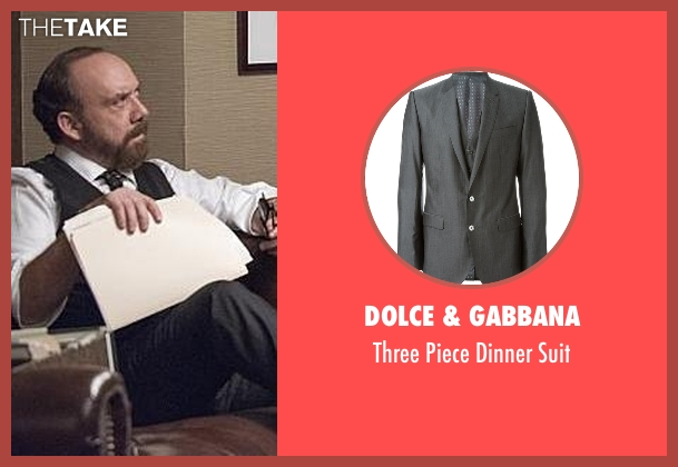 Dolce & Gabbana gray suit from Billions seen with Chuck Rhoades (Paul Giamatti)