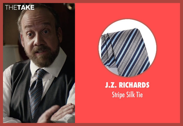 J.Z. Richards gray tie from Billions seen with Chuck Rhoades (Paul Giamatti)