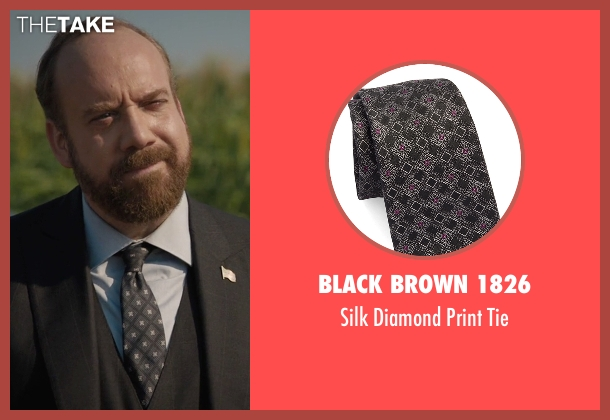 Black Brown 1826 gray tie from Billions seen with Chuck Rhoades (Paul Giamatti)