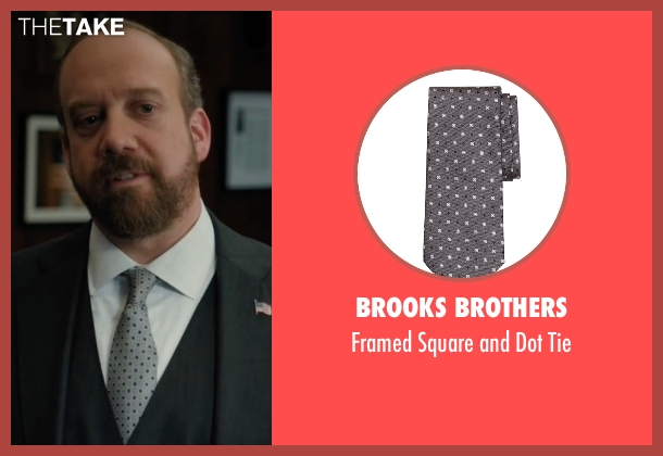 Brooks Brothers gray tie from Billions seen with Chuck Rhoades (Paul Giamatti)