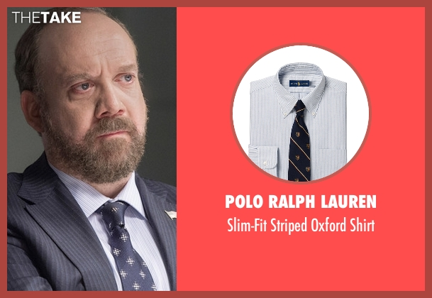 Polo Ralph Lauren white shirt from Billions seen with Chuck Rhoades (Paul Giamatti)