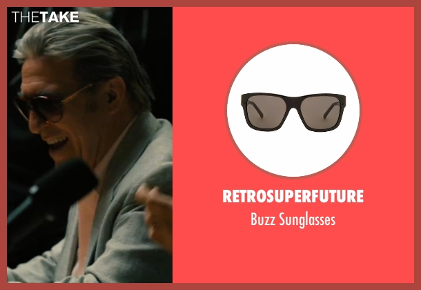 Retrosuperfuture black sunglasses from Bleed for This seen with Ciarán Hinds (Angelo Pazienza)