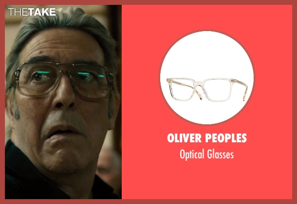 Oliver Peoples white glasses from Bleed for This seen with Ciarán Hinds (Angelo Pazienza)