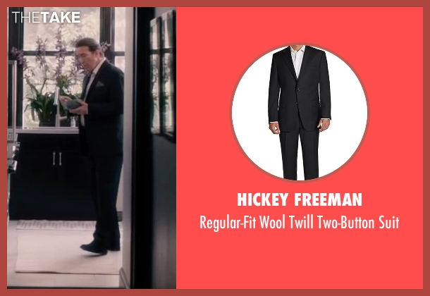 Hickey Freeman black suit from The Disappearance of Eleanor Rigby seen with Ciarán Hinds (Spencer Ludlow)