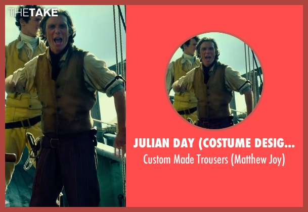 Julian Day (Costume Designer) brown trousers from In the Heart of the Sea seen with Cillian Murphy (Matthew Joy)