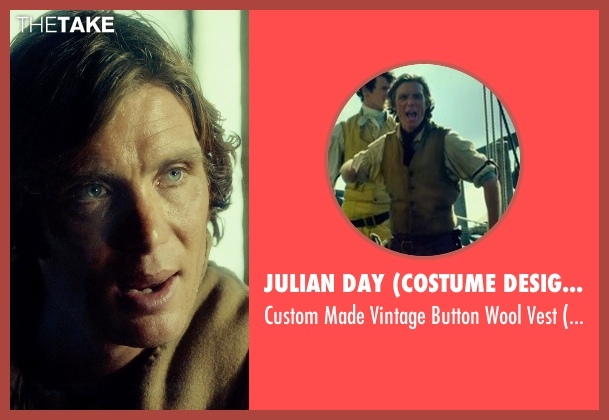Julian Day (Costume Designer) brown vest from In the Heart of the Sea seen with Cillian Murphy (Matthew Joy)