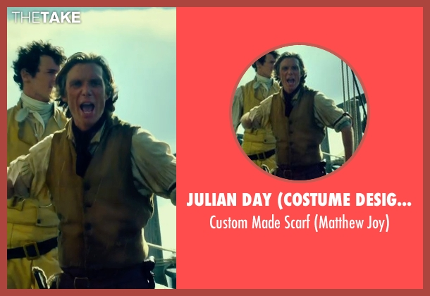 Julian Day (Costume Designer) red scarf from In the Heart of the Sea seen with Cillian Murphy (Matthew Joy)
