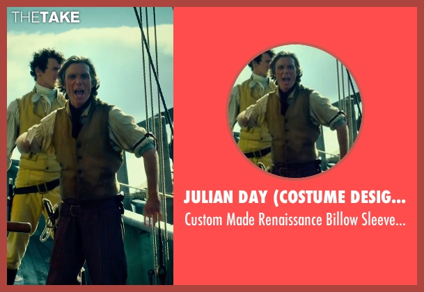 Julian Day (Costume Designer)	 white shirt from In the Heart of the Sea seen with Cillian Murphy (Matthew Joy)
