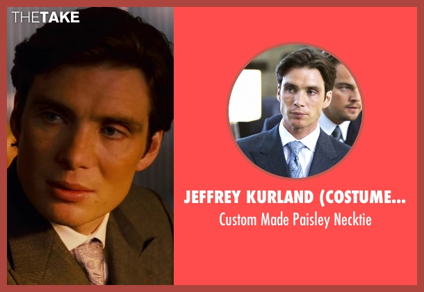 Jeffrey Kurland (Costume Designer) blue necktie from Inception seen with Cillian Murphy (Robert Fischer)