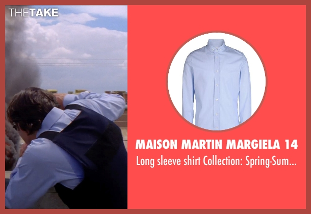 MAISON MARTIN MARGIELA 14 blue spring-summer from Transcendence seen with Cillian Murphy (Agent Buchanan)