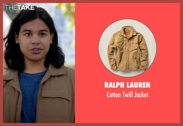 Ralph Lauren beige jacket from The Flash seen with Cisco Ramon / Reverb (Carlos Valdes)