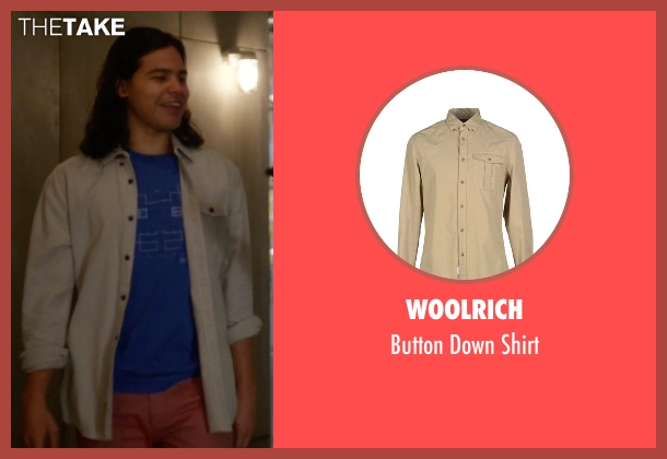 Woolrich beige shirt from The Flash seen with Cisco Ramon / Reverb (Carlos Valdes)