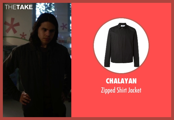 Chalayan black jacket from The Flash seen with Cisco Ramon / Reverb (Carlos Valdes)