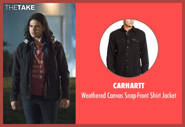 Carhartt black jacket from The Flash seen with Cisco Ramon / Reverb (Carlos Valdes)