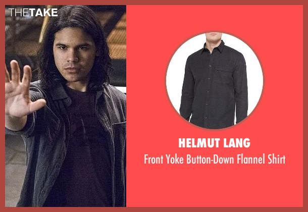 Helmut Lang  black shirt from The Flash seen with Cisco Ramon / Reverb (Carlos Valdes)