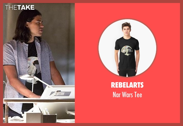 RebelArts black tee from The Flash seen with Cisco Ramon / Reverb (Carlos Valdes)
