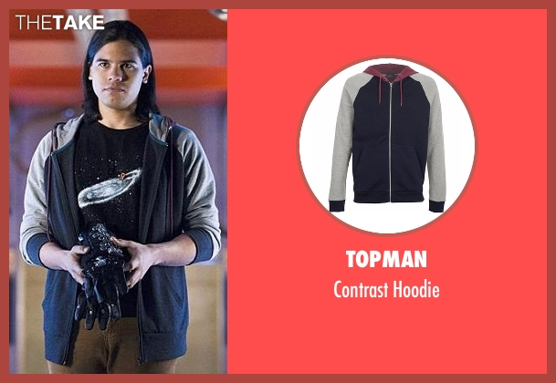 Topman blue hoodie from The Flash seen with Cisco Ramon / Reverb (Carlos Valdes)