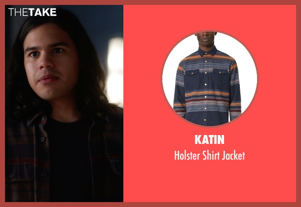 Katin blue jacket from The Flash seen with Cisco Ramon / Reverb (Carlos Valdes)