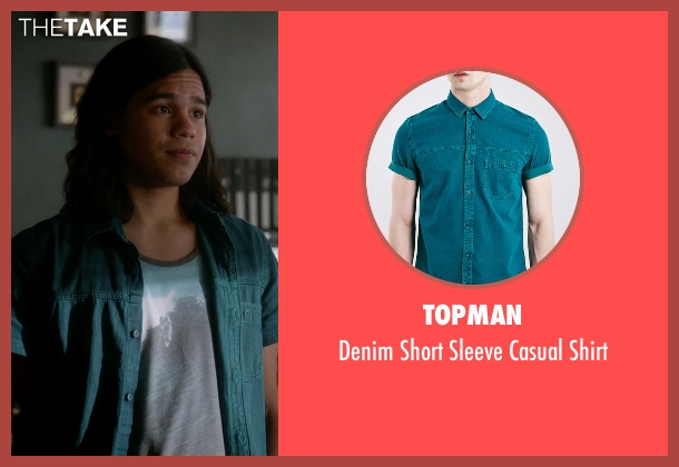 Topman blue shirt from The Flash seen with Cisco Ramon / Reverb (Carlos Valdes)