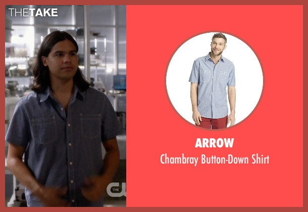 Arrow blue shirt from The Flash seen with Cisco Ramon / Reverb (Carlos Valdes)