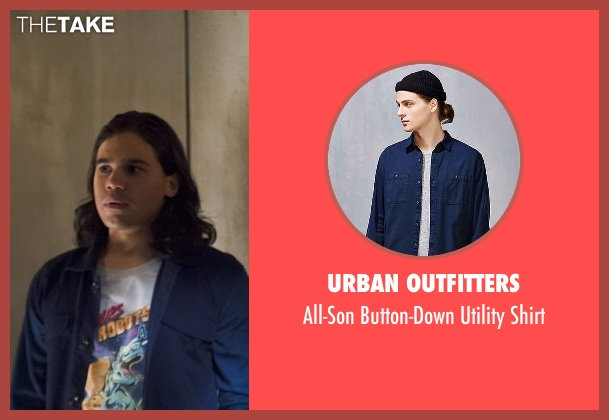 Urban Outfitters blue shirt from The Flash seen with Cisco Ramon / Reverb (Carlos Valdes)