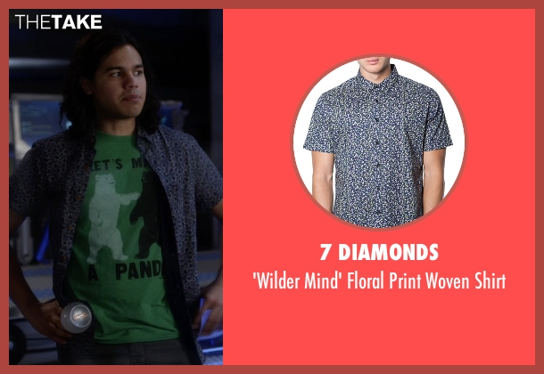 7 Diamonds blue shirt from The Flash seen with Cisco Ramon / Reverb (Carlos Valdes)