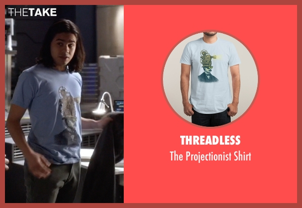 Threadless blue shirt from The Flash seen with Cisco Ramon / Reverb (Carlos Valdes)