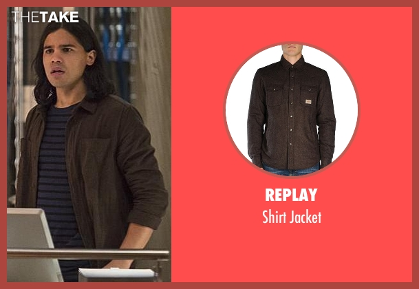 Replay brown jacket from The Flash seen with Cisco Ramon / Reverb (Carlos Valdes)