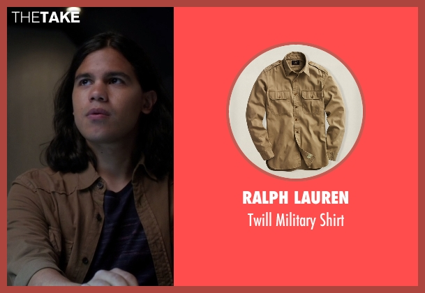 Ralph Lauren brown shirt from The Flash seen with Cisco Ramon / Reverb (Carlos Valdes)