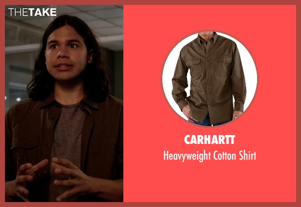 Carhartt brown shirt from The Flash seen with Cisco Ramon / Reverb (Carlos Valdes)