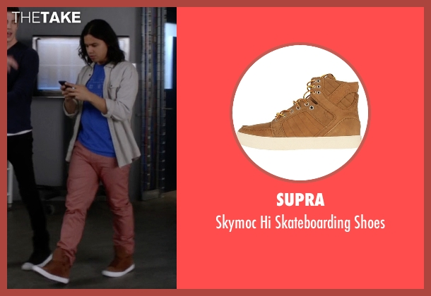 Supra brown shoes from The Flash seen with Cisco Ramon / Reverb (Carlos Valdes)